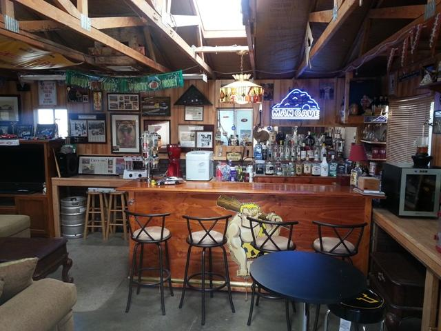 Garage Man Cave With A Bar Best Damn Man Cave